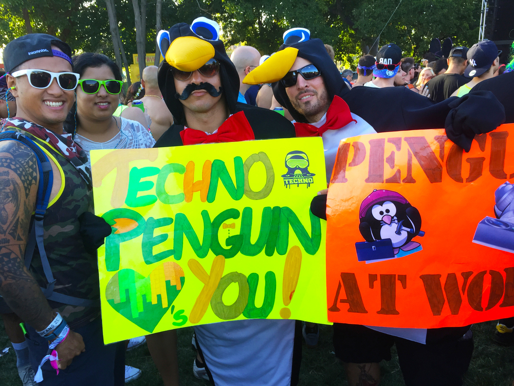 Electric Zoo: Transformed, where the techno penguins came out to play!