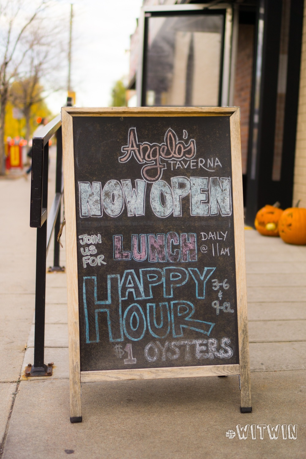 $1 oysters at Angelo's Happy Hour from 3 - 6pm and 9pm - close daily