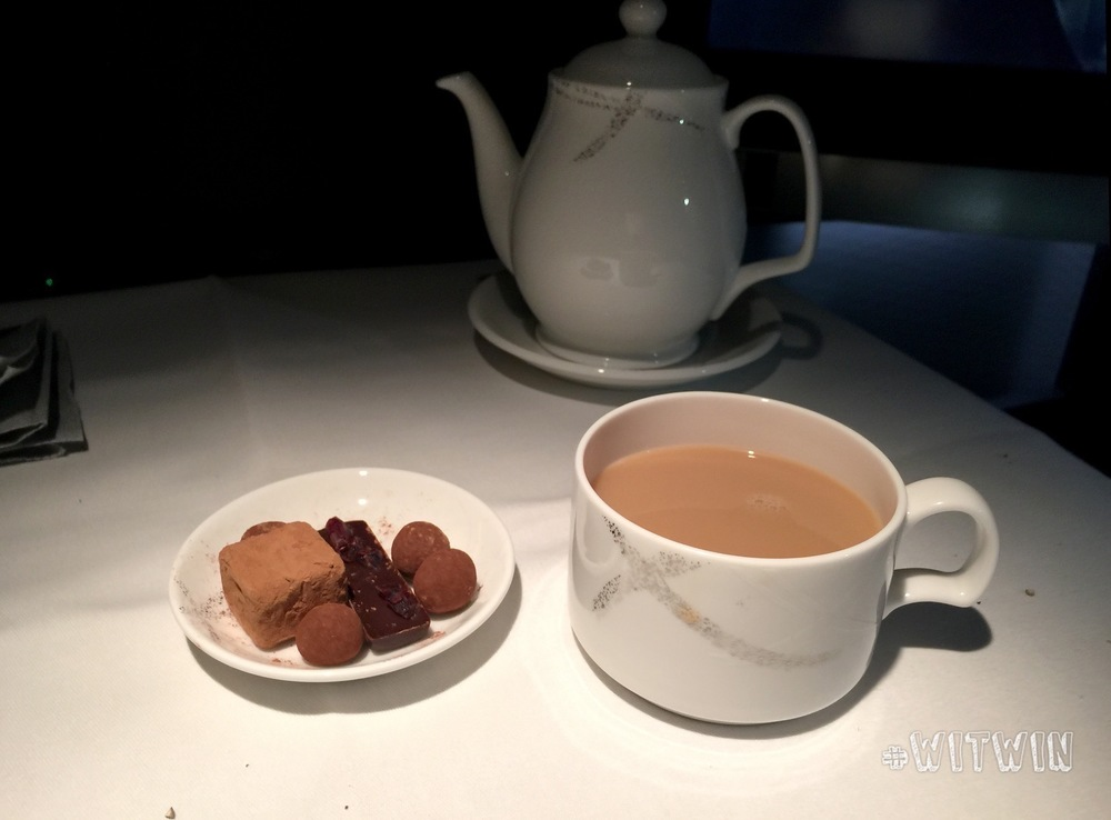 Lunch course #6: Assorted truffles and Hong Kong milk tea