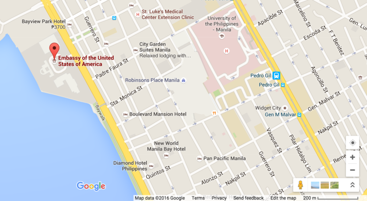 Site Map Manilajpg The US Embassy In Manila US Consulate General - Map ou us