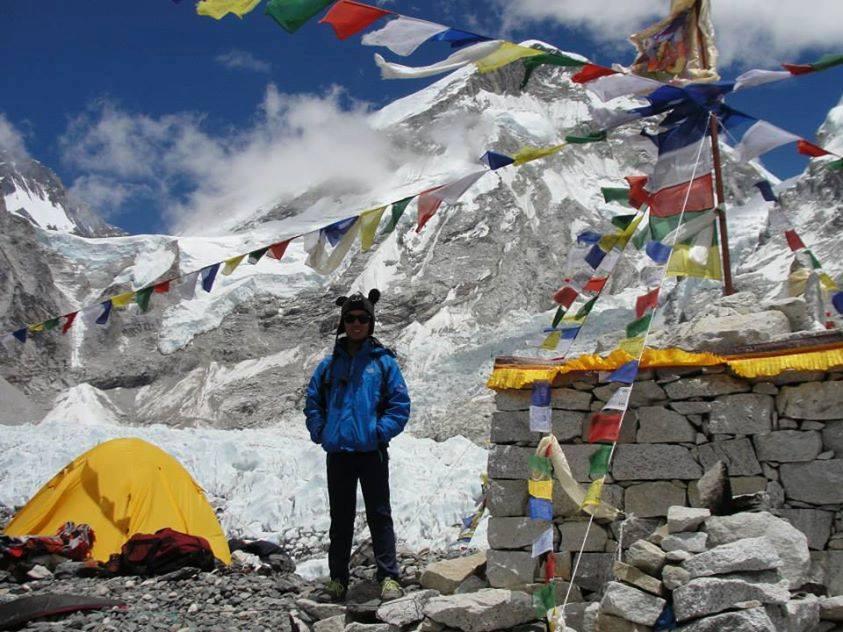 Dan on his Everest trek