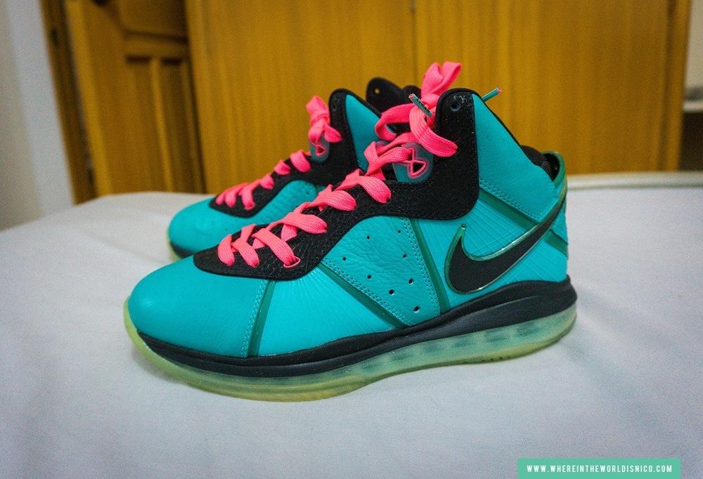 "Nike LeBron 8 ""South Beach"" (Pre-Heat) (street value $1,100)"