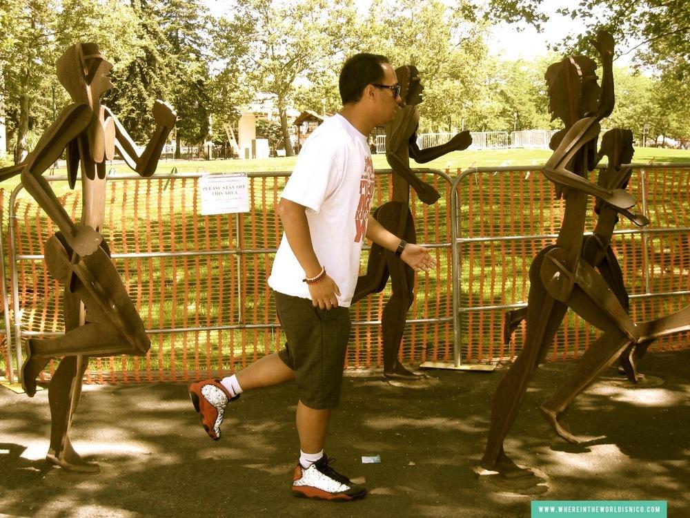 On feet: Air Jordan Retro XIII (Black/Red)