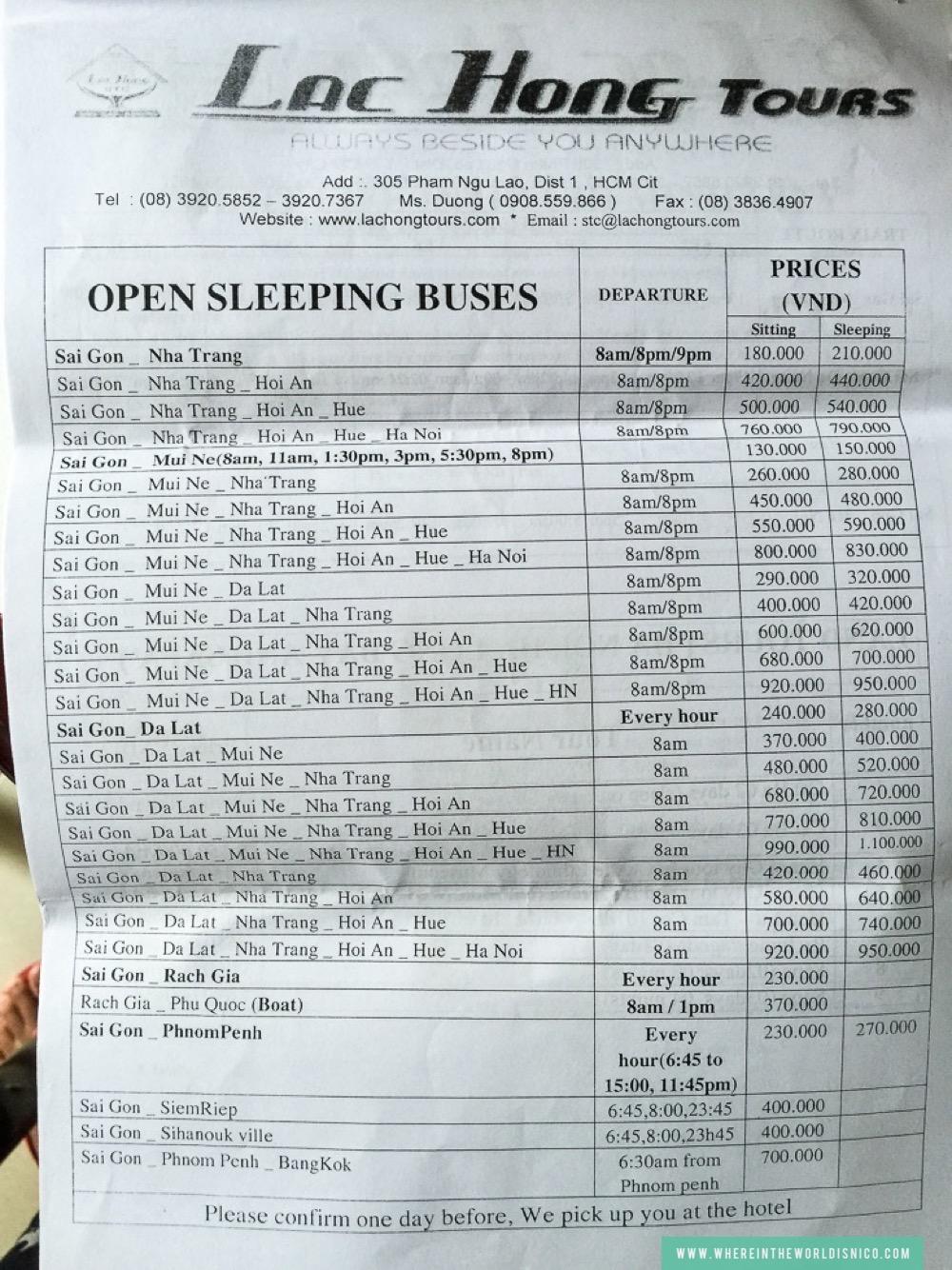 Sample Pricing Sheet
