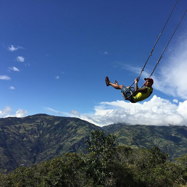 It's been 248 days since I left. 📍Banos, Ecuador 🇪🇨: Just swinging through Ecuador. 8 months and 16 countries down. #lp