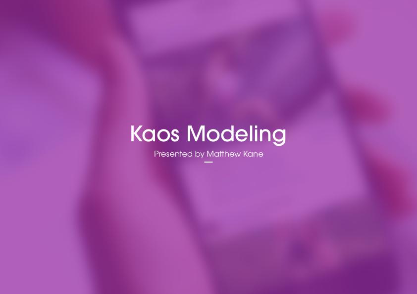 Kaos Modeling