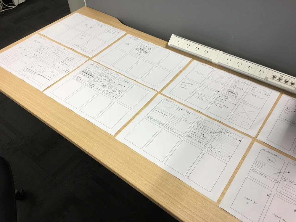 Stakeholder sketches were redrawn