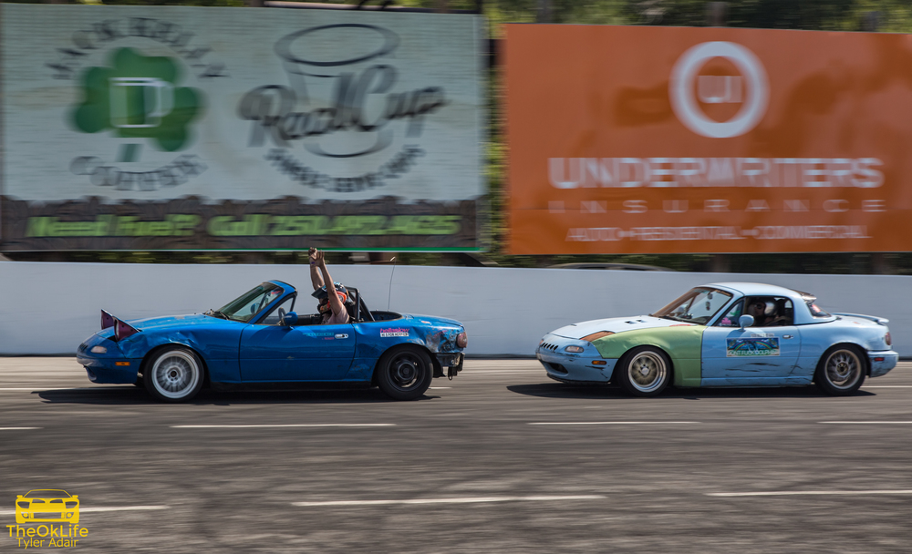 "Take that massive automotive corporations, here at DUI we even have one autonomous drifting Miata. ""LOOK MA, NO HANDS!"""