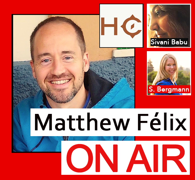 """Today's """"Matthew Félix On Air"""" radio show and podcast on FCCFree Radio (fccfreeradio.com) starts off with Sivani Babu and Sabine Bergmann from online travel magazineHidden Compass.  Their new issue is just out, and it's full of work by award-winning writers and photographers who have been featured in publications such as National Geographic, Geo, and Time, as well as the Washington Post, BBC Travel, and on NPR.  In the second segment, Sivani will hang around to tell us about her love affair with Antarctica, where she has been three times–including very recently.  Live every Sunday from 2:00- 4:00 Pacific time on fccfreeradio.com, """"Matthew Félix On Air"""" features author Matthew Félix and guests discussing writing, travel, and whatever else piques Matthew's interest, from spirituality to cultural happenings to the outdoors to anything with a good story worth exploring. Matthew's guests have included New York Times bestselling novelist Jasmin Darznik (The Good Daughter); one of the world's most accomplished photographers, Bob Holmes; and, travel-writing legend Don George, among many others. FCCFree Radio programs produce more that 1,000,000 page views per month and generate 200,000+ listeners of live hosted content."""