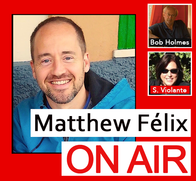 "On today's ""Matthew Félix On Air"" radio show and podcast on FCCFree Radio (fccfreeradio.com)  my first guest will be one of the world's most successful photographers, Robert Holmes. Bob has worked for National Geographic, Geo, Wine Spectator, and many more over his 35-year career. We'll discuss photography, his adventures, and more.  In my second segment, my guest will be my friend Susan Violante. In her 20s, Susan was diagnosed with Crohn's disease, a chronic autoimmune-system-related disorder. Her diagnosis, however, was a long-time coming—and is an unbelievable story. We'll talk about Susan's experience, as well as how she managed the disease into remission and now leads a happy, healthy life."