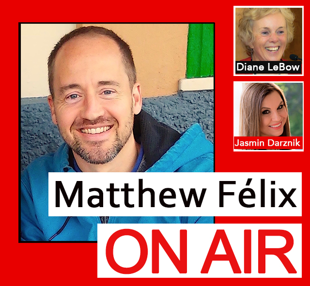 """The 3/18/18 episode of """"Matthew Félix On Air"""" radio show and podcast on FCCFree Radio (fccfreeradio.com). A belated homage to March 8's International Women's Day!  My first guest will be educator, traveler, and writer Diane LeBow. Diane is recipient of a Lifetime Achievement Award from Rutgers University for """"her long career in writing, photojournalism, college teaching, and women's rights work."""" We'll talk about her experiences, adventures, and her in-progress book about her search for the best of all possible worlds.  In my second segment, I'll talk with New York Times best-selling author Jasmin Darznik about her new novel, Song of a Captive Bird, a fictional account of Iran's trailblazing woman poet, Forugh Farrokhzad. Jasmin, who was born in Teheran, Iran and came to the United States when she was five years old, is also the author of The Good Daughter: A Memoir of My Mother's Hidden Life. Her essays have appeared in the New York Times, Washington Post, and Los Angeles Times."""