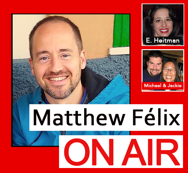 "The 3/11/18 episode of the ""Matthew Félix On Air"" radio show and podcast on FCCFree Radio (fccfreeradio.com). Book Covers, Cuba, & Making a Difference  My first guest will be award-winning graphic designer Erica Heitman-Ford, live from New York City! We'll discuss the art of the book cover, design, and more. Erica's work graced Print Magazine's 75th anniversary edition, and she has designed for Victoria's Secret, Barnes & Noble, and Whole Foods, among many others.   In my second segment, authors and adventurers Michael Shapiro (A Sense of Place, National Geographic Traveler, the Washington Post) and Jackie Yau (Inspirato, Travelers' Tales anthologies, and the Travel Guide to California) talk about their recent travel to Cuba. We'll not only discuss their trip, but how they used it to make a difference in a lot of Cuban kids' lives."