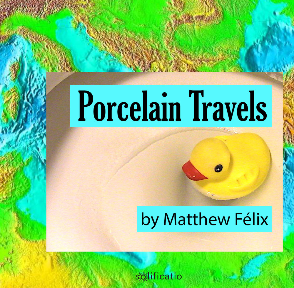 "Matthew Felix's ""Porcelain Travels"" podcast is a collection of select true stories excerpted from Matthew's forthcoming book, loosely based around his humorous and harrowing experiences in, on, and around toilets, tubs, and showers encountered on his travels to over 50 countries. Available on iTunes, Google Play, and other major podcast platforms."