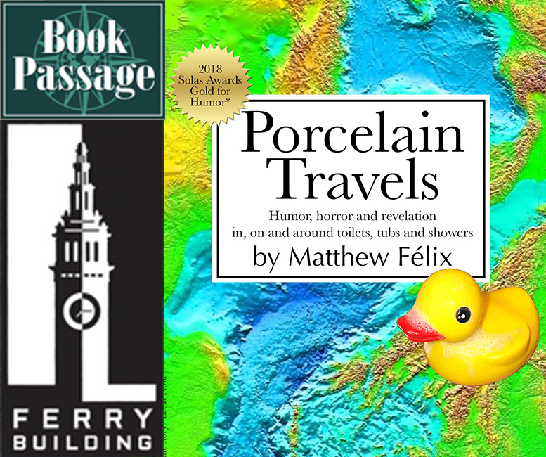 "Matthew Felix new book ""Porcelain Travels"" Book Passage 11/12 Launch Event: Bay Area friends! On Monday, November 12 at 6:00 PM, Left Coast Writers will be hosting the first event for my new book Porcelain Travels. The event will take place at Book Passage in the San Francisco Ferry Building. Hope to see you there!"