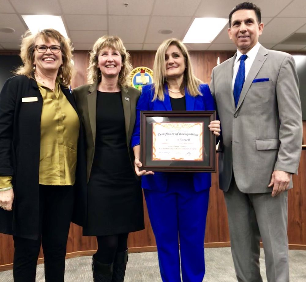 2019 Orange County Department of Education Counselor Recognition Award -