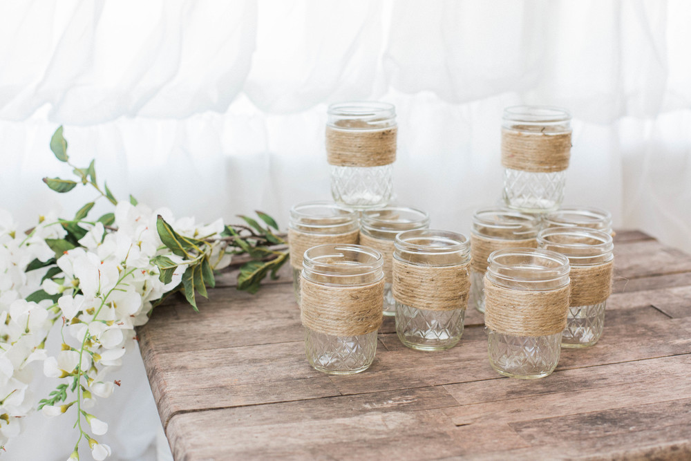 Twine Wrapped Mason Jars (12)