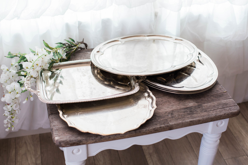 Misc Antiqued Serving Trays