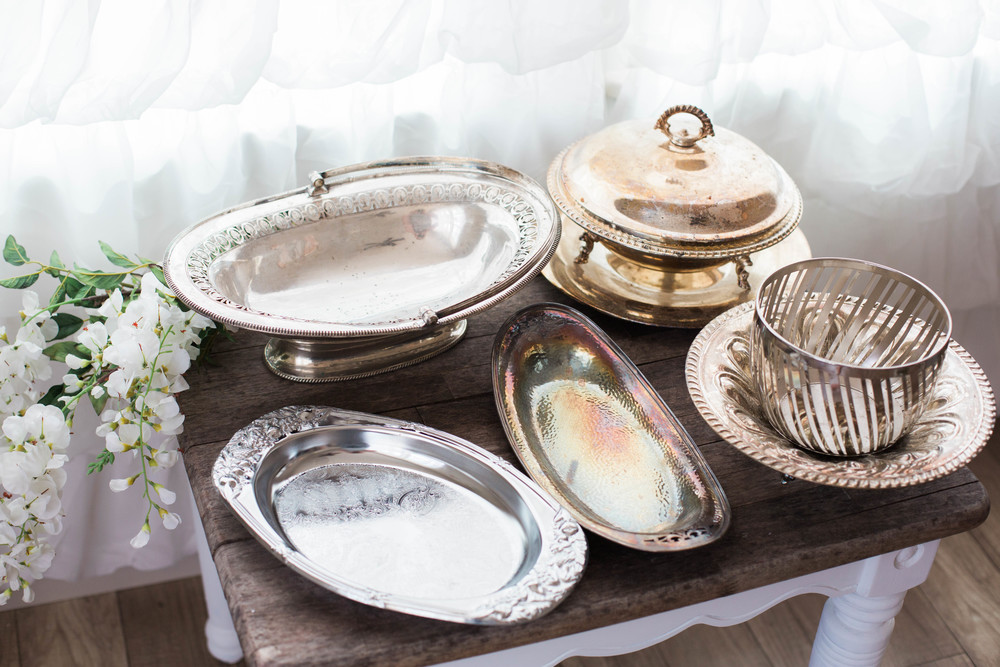 Misc Antiqued Serving Trays/Bowls