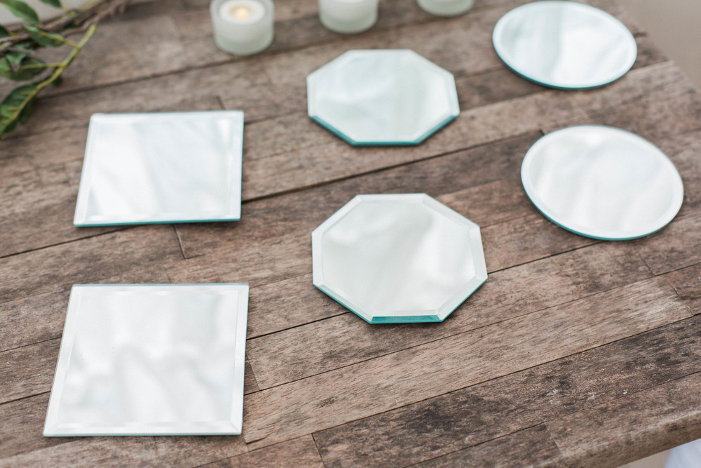"5"" Table Mirrors Hexagon, Square & Triangle"