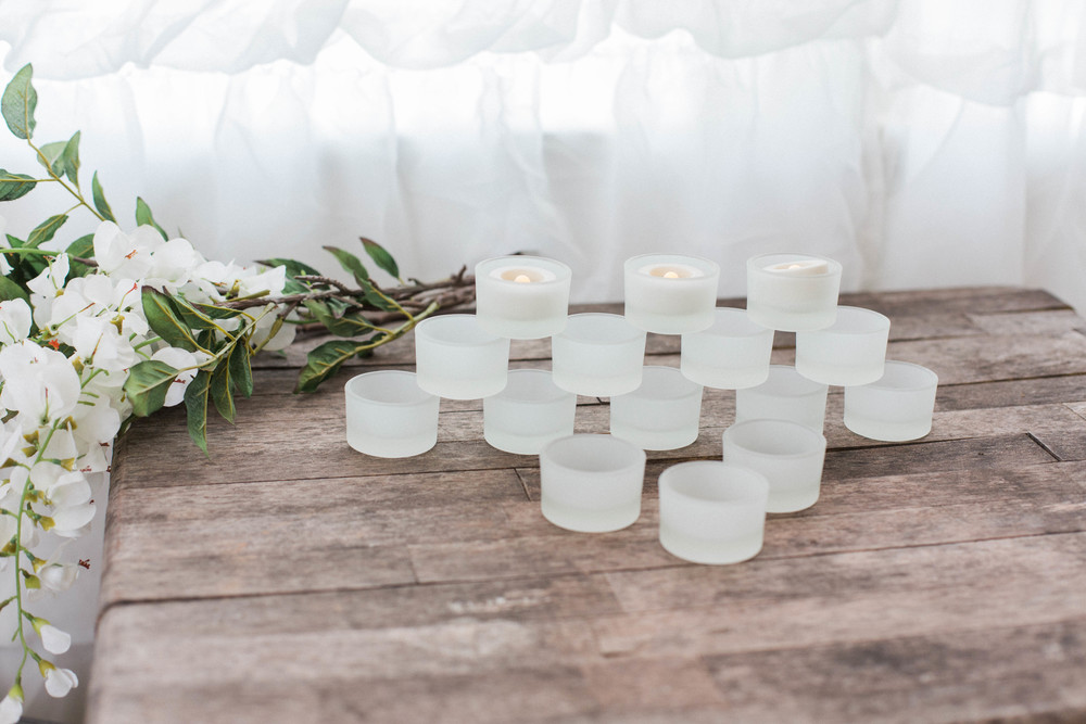 Frosted Tea Light Candle Holders (72)