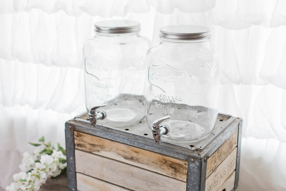 2 Gallon Mason Jar Beverage Dispenser (2)