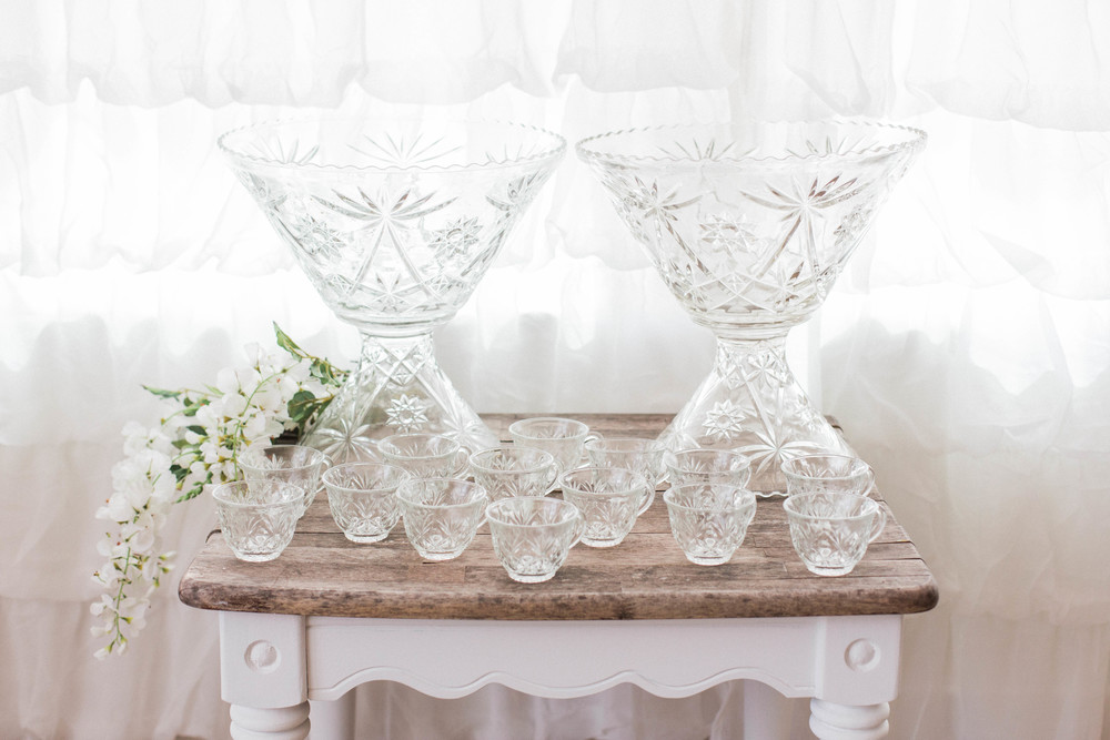 Geometrical Double Punch Bowl Set (Set Includes 2 Punch Bowls & 23 Cups)