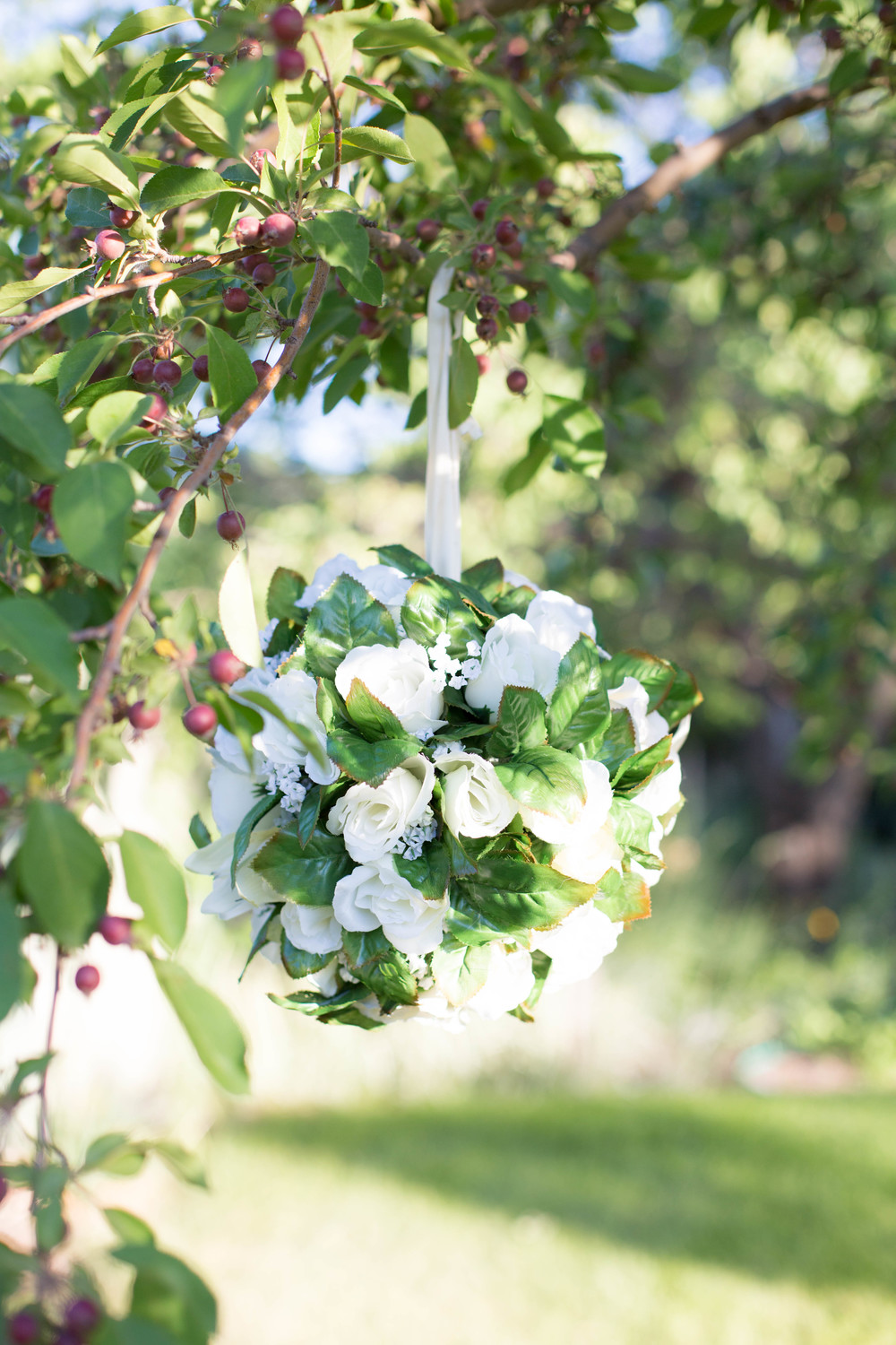 "12"" Hanging Ball Floral Arrangements (4)"
