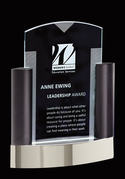 Engraved Crystal Award