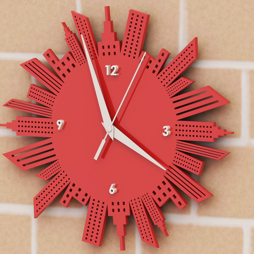 Laser Cut New York Wall Clock