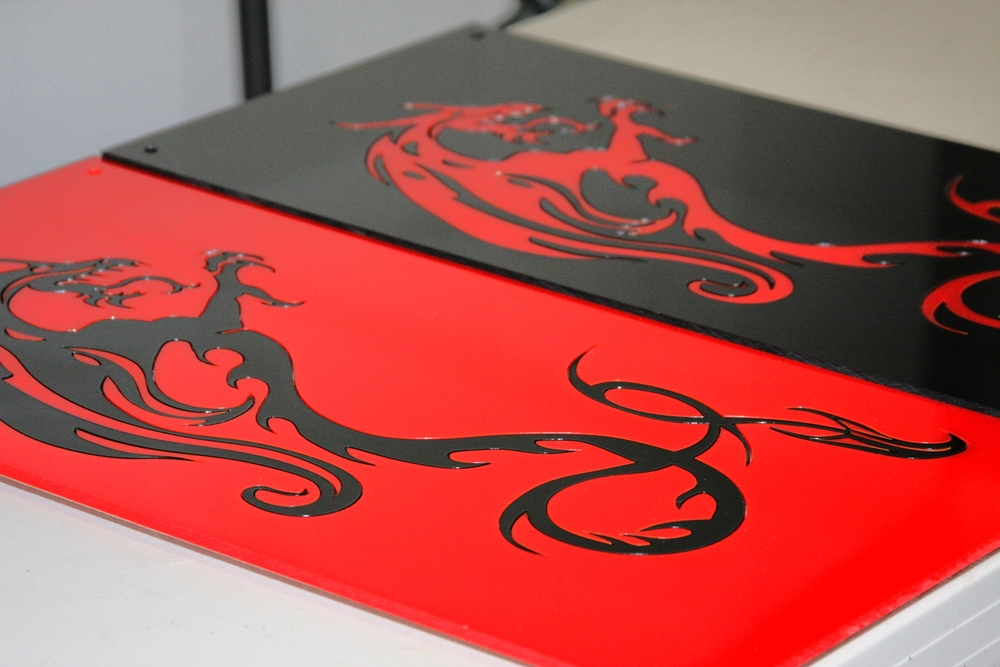 Laser Cut Acrylic Dragons