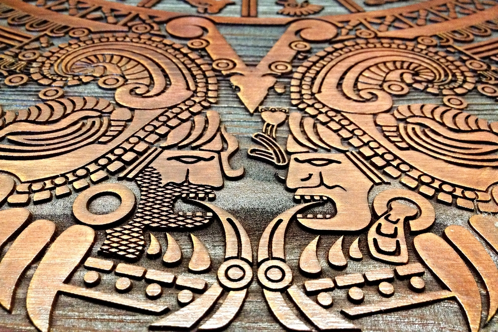 Laser Carved Pine Tabletop