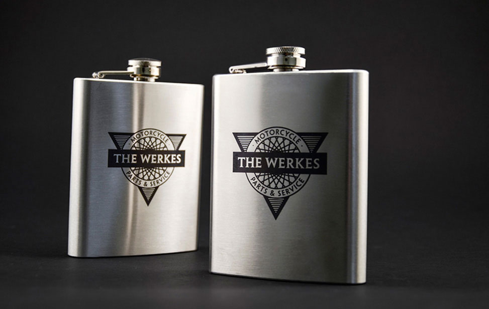 Laser Etched Customized Flasks