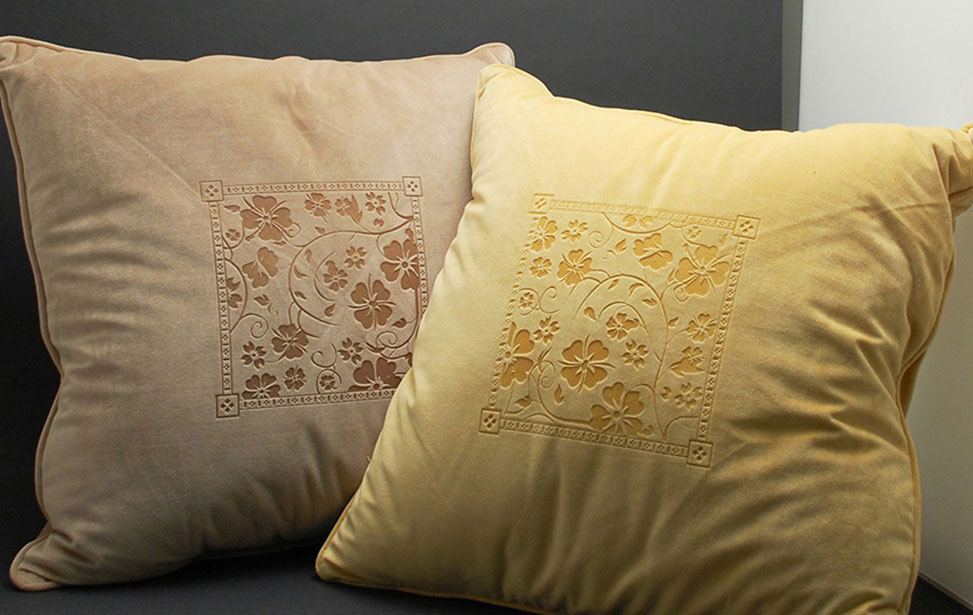Laser Engraved Microfiber Pillows