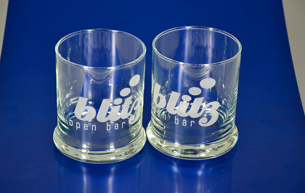 Laser Engraved Glass Cups