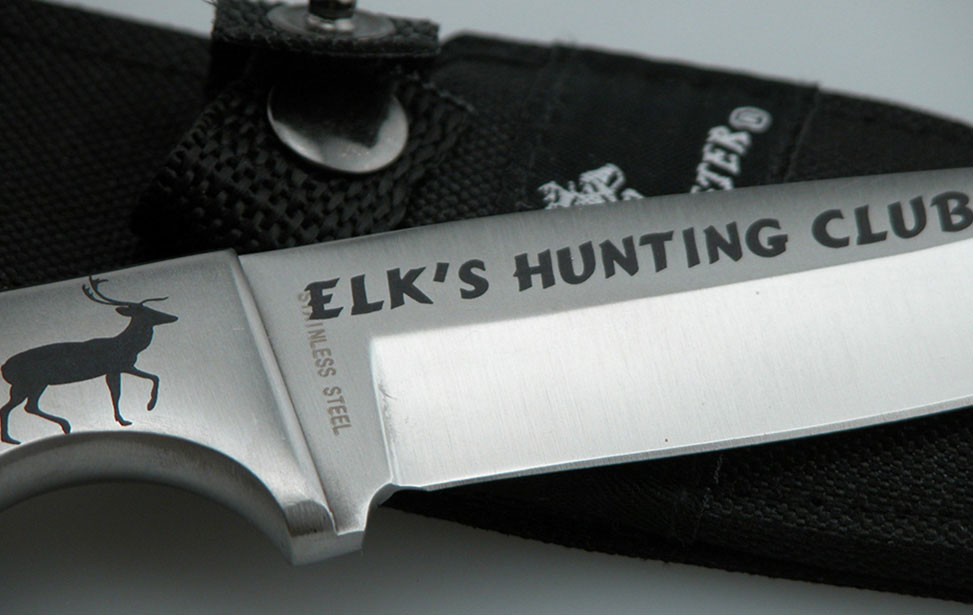 Laser Etched Hunting Knife