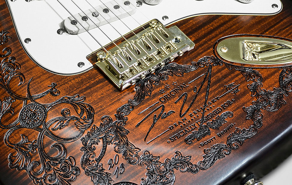 Laser Engraved Customized Guitar