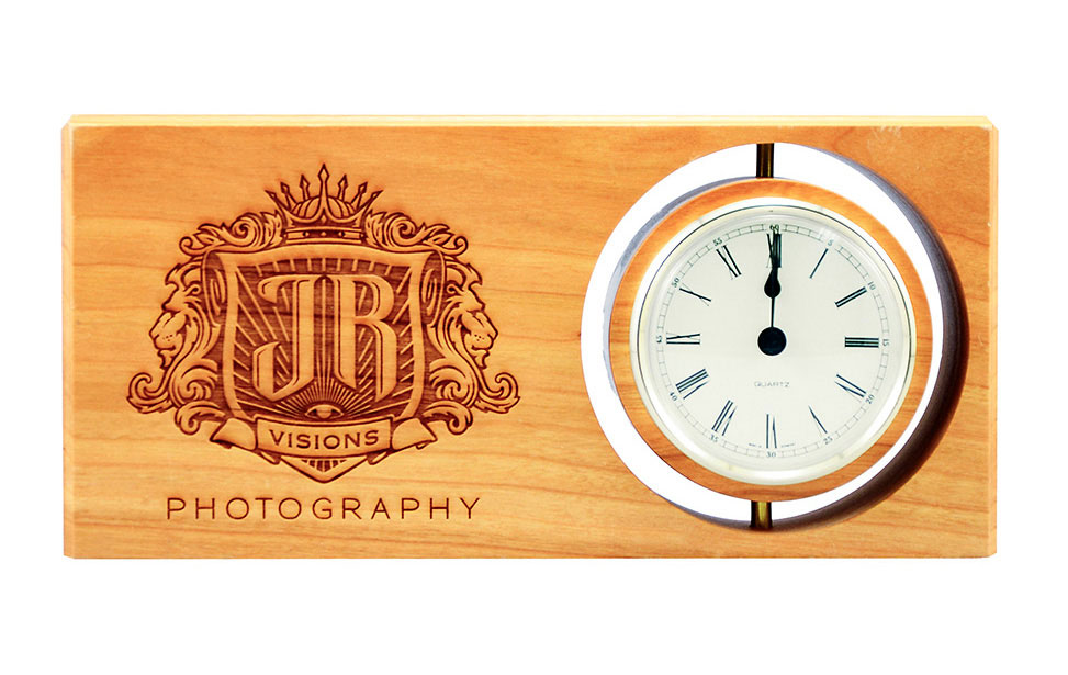 Laser Engraved Desk Clock