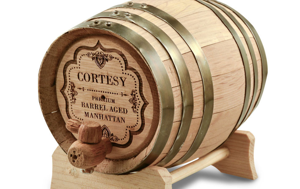 Laser Engraved Whisky Barrel