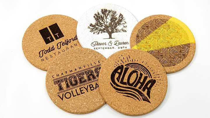 Laser Engraved Cork Coasters