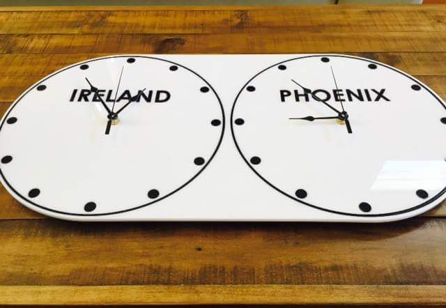 Laser Cut Acrylic Multi Zone Clock