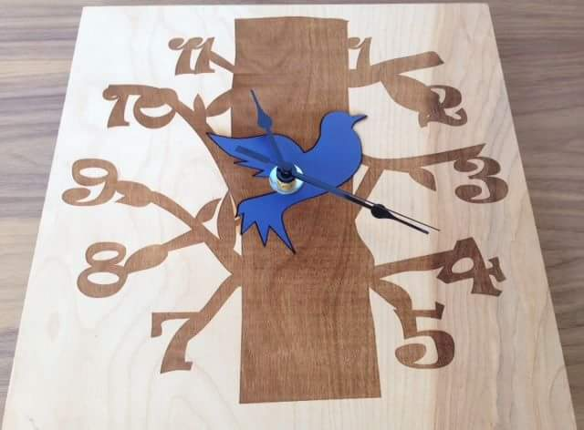 Laser Cut & Engraved Wooden Clock