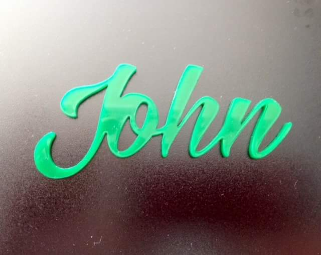 Laser Cut & Engraved Acrylic Name Tags