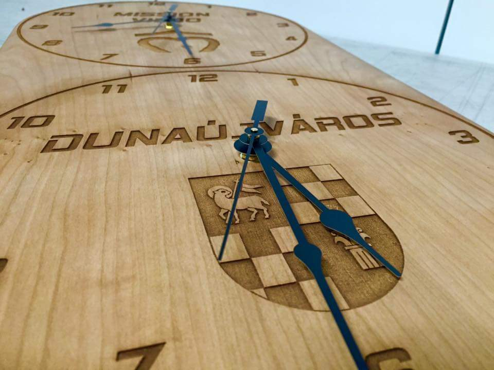 Laser Cut & Engraved Multi Zone Custom Clock