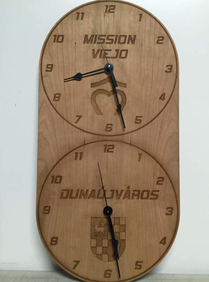 Laser Cut & Engraved Custome Multi Zone Clock
