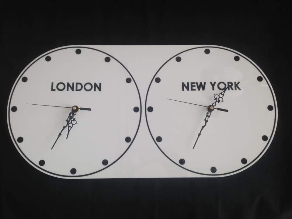 Laser Cut Multi Zone Acrylic Clock