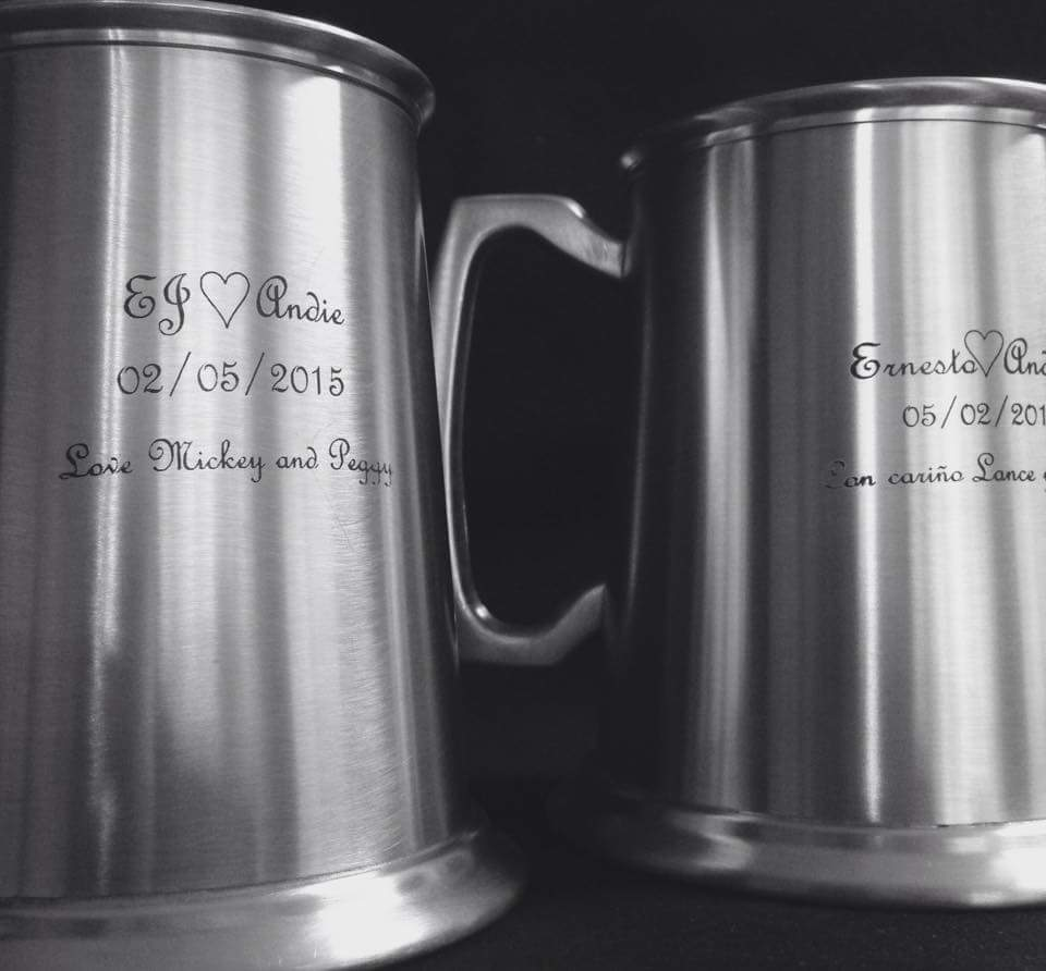 Laser Etched Beer Mugs