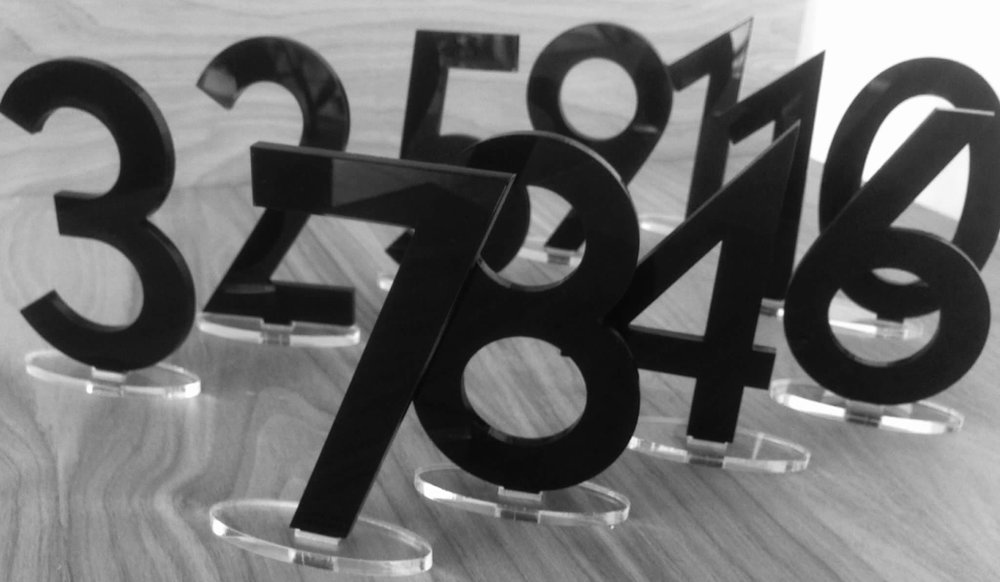Laser Cut Acrylic Numbers