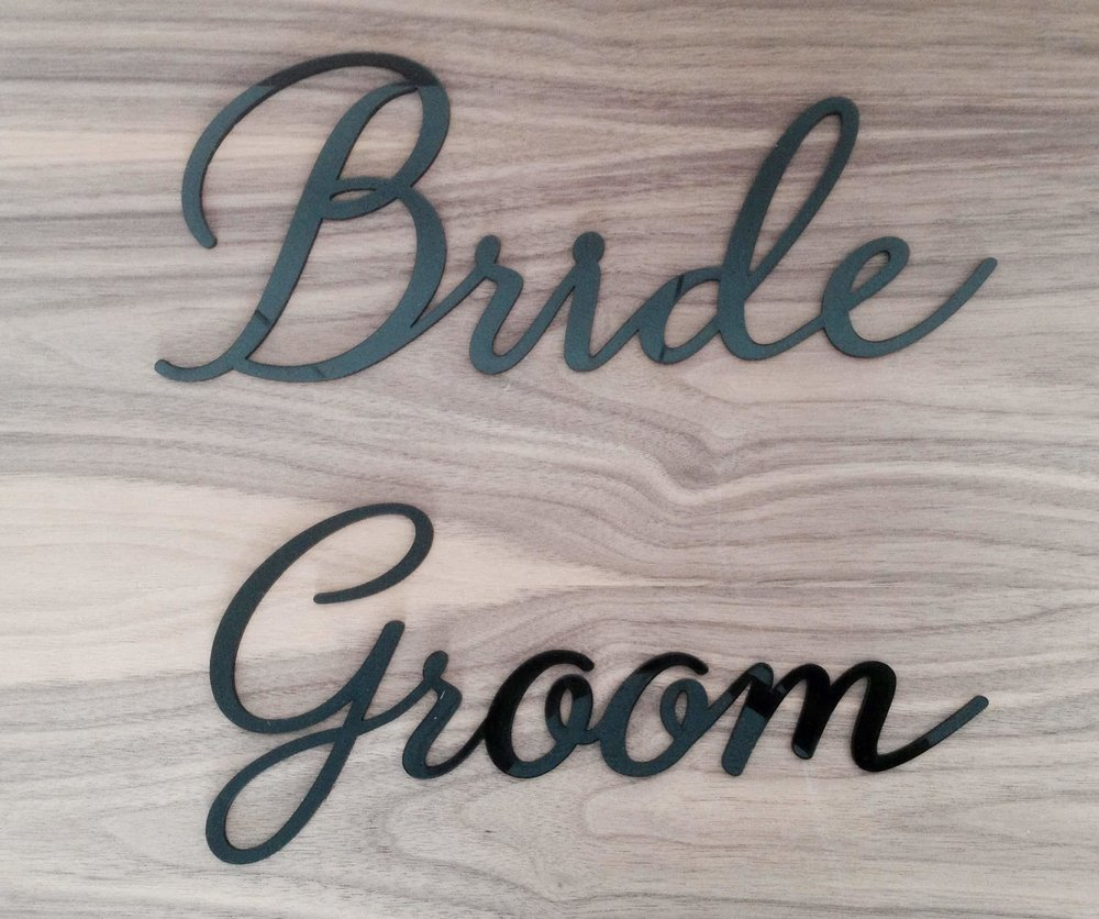 Laser Cut Acrylic Signs
