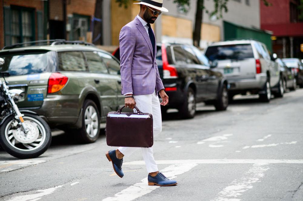Image from Elle.com gallery,  The Best Street Style From NYFW: Men's Spring 2017  by Nikki Ogunnaike. Photo by  Tyler Joe .