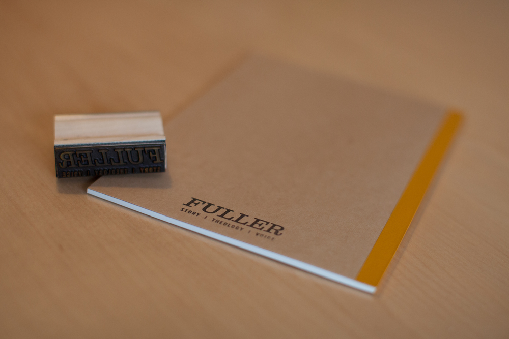 Commercially-produced journals with custom stamp